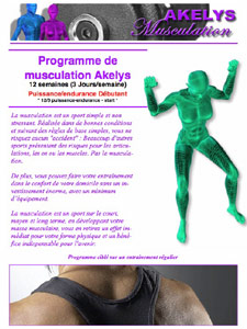 programme de musculation akelys